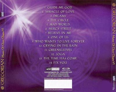 GREGORIAN. Artista: GREGORIANA Álbum: Masters Of Chant Capítulo IV