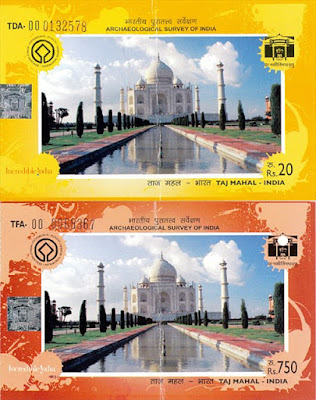 Tickets to the Taj Mahal