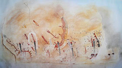 Peyote pictograph at the White Shaman site