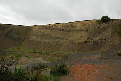 Old moler quarry on the island of Mors