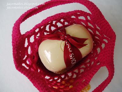 crochet mini totebag