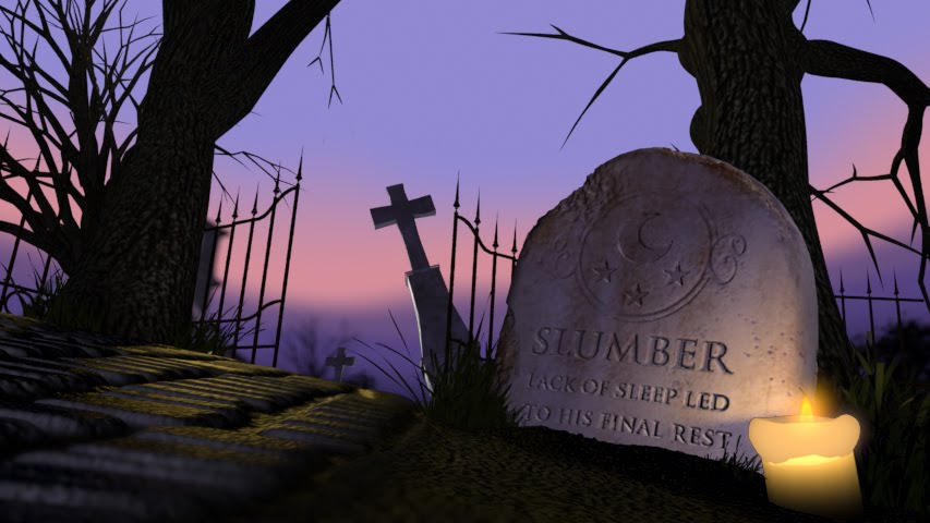 cemetery at night. Cemetery Lighting/Texturing
