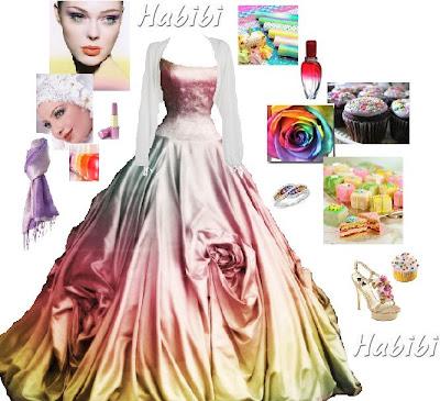 or I'd wear a plain white wedding dress of a modest cut,