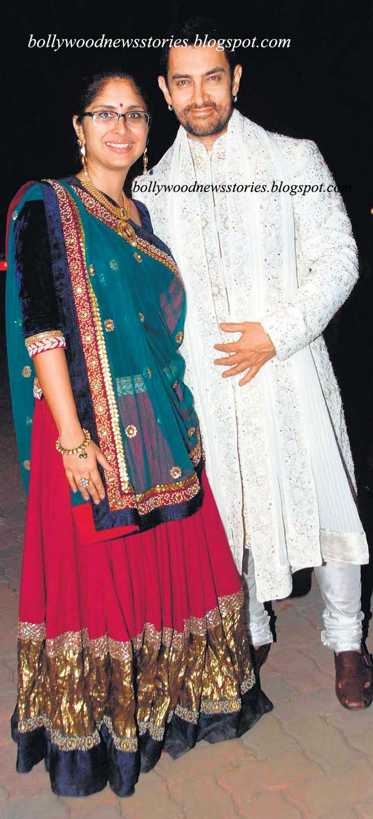 Khan With Wife Kiran Rao at Imran Khan and Avantika Malik Wedding
