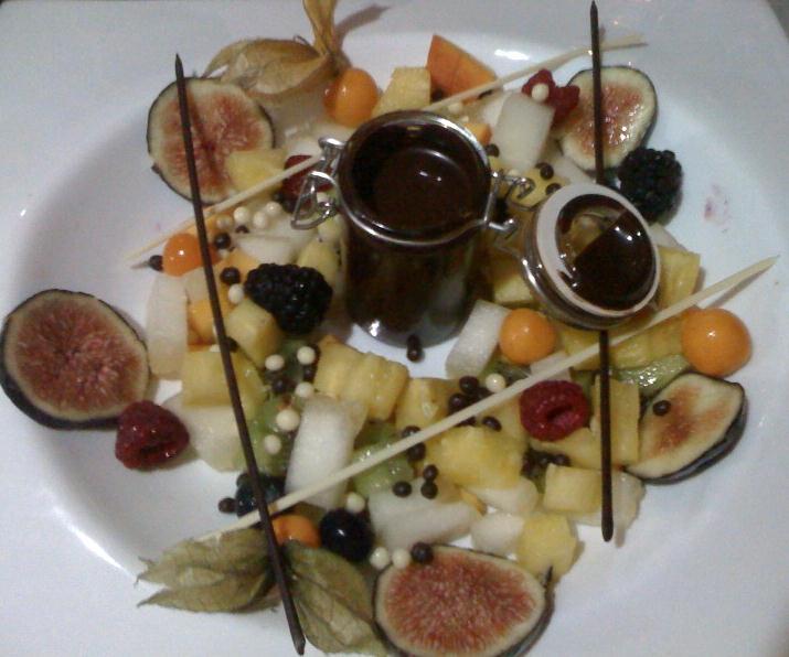 Las recetas de mar fondue de chocolate con frutas - Fondue de chocolate ...