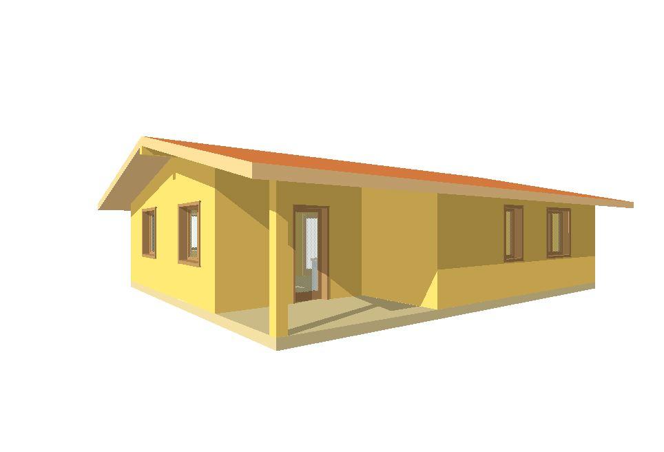 Case prefabbricate casa 78 mq portico 14 mq for Case in legno prezzi romania