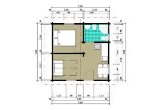 Progetti di case in legno casetta 25 mq for Progetti contemporanei di case a pianta aperta