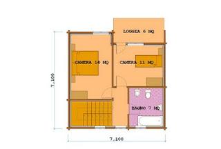 Progetti di case in legno casa 98 mq loggia 6 mq for Case in legno 100 mq