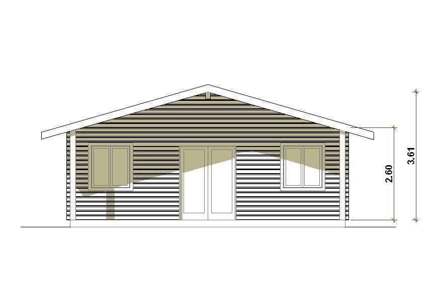 Progetti di case in legno casa 59 mq portico 20 mq for Progetti di portico anteriore