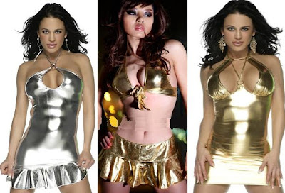 Metallic Fashion dress