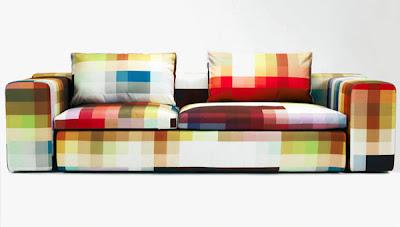 Sofa com padrao pixel by Cristian Zuzunaga 01