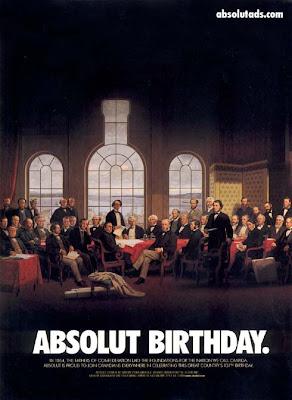 ABSOLUT BIRTHDAY - Hoje fiquei mais velhinho . . .