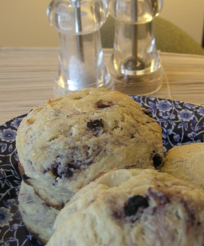 more than burnt toast: Blueberry Maple Scones