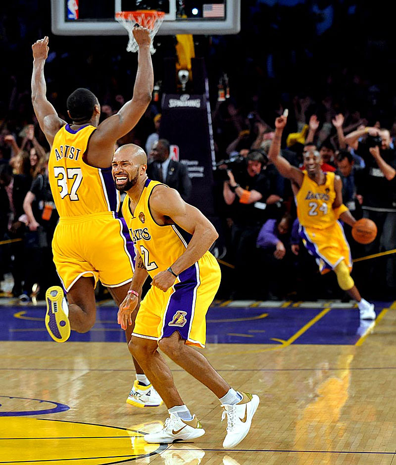 Kobe Bryant as the Laker's won the championship on June 17, 2010.