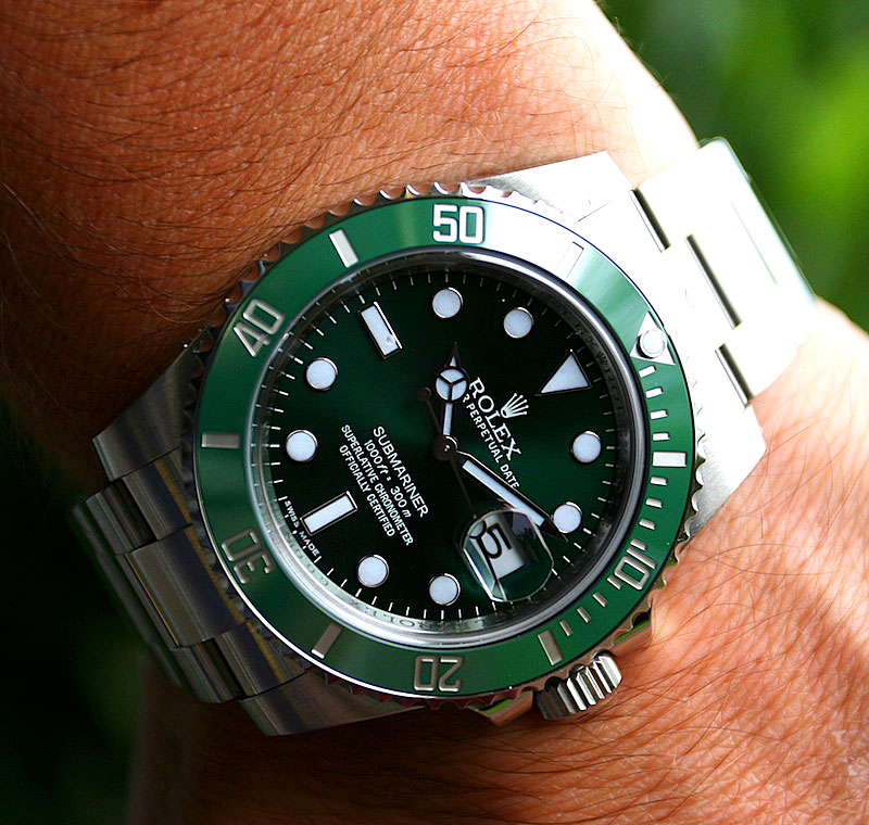 Rolex Wrist Shot Of The Day Kurt s All-New LV SubmarinerRolex Submariner Green On Wrist