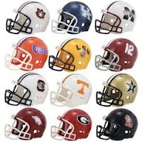 SEC Football Helmets