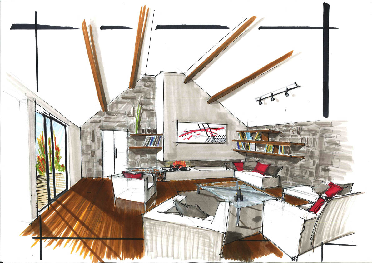 design et architecture interieure perspectives int rieures. Black Bedroom Furniture Sets. Home Design Ideas