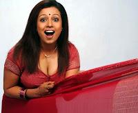 Actress in blouse hot saree still 14