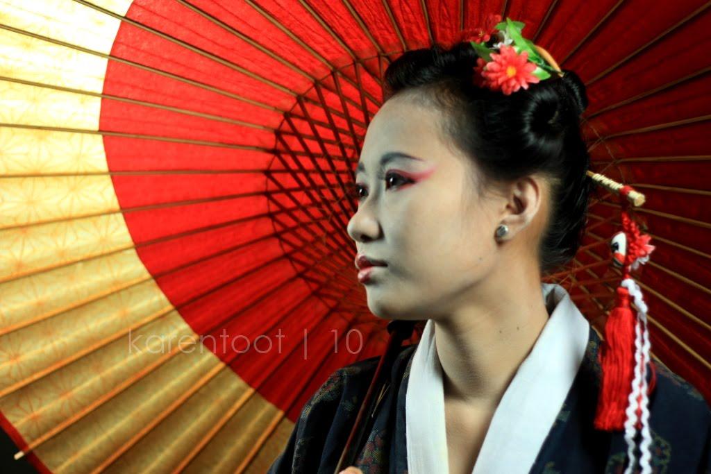 Modern geisha hairstyles