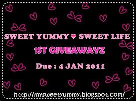 Sweet Yummy Sweet Life Giveawayz