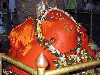 Ganesh in Tekadi Temple, Nagpur