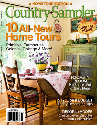 My Painted Garden Country Sampler Home Tours Magazine