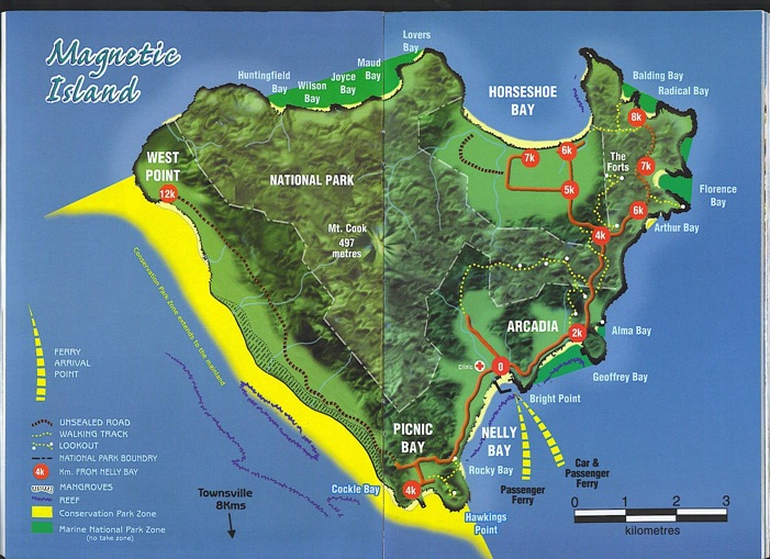 Map Of Magnetic Island Australia