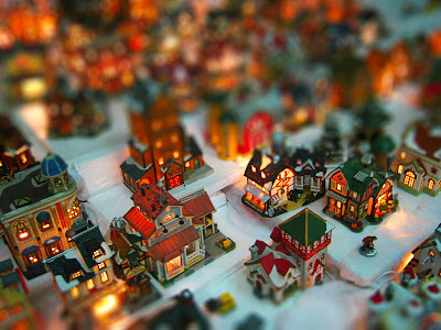Fake tilt-shift image of a Christmas Village, Philippines