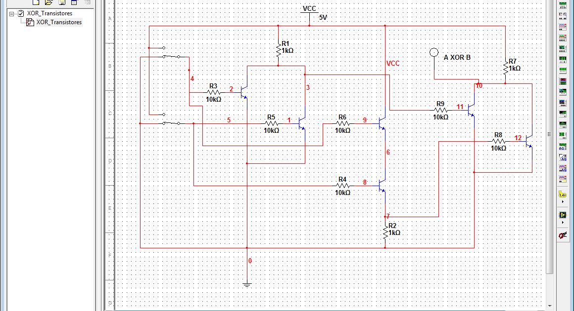 Compuerta xor con transistores rdebug for Puerta xor 3 entradas