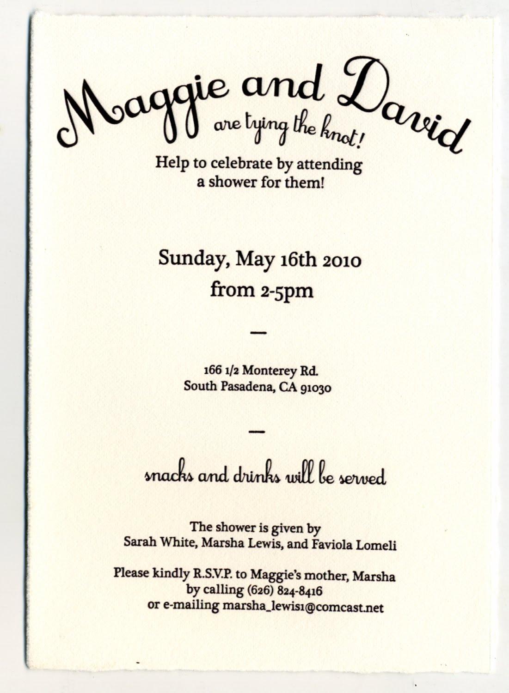 Maggie Lomeli Printmaking: Wedding Shower Invitations