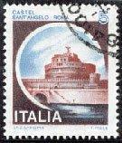 Estampilla del Castillo del Santo Angel o Mole Adriana, Roma