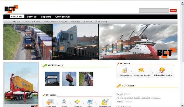 Re-launching website Bandung Container Terminal
