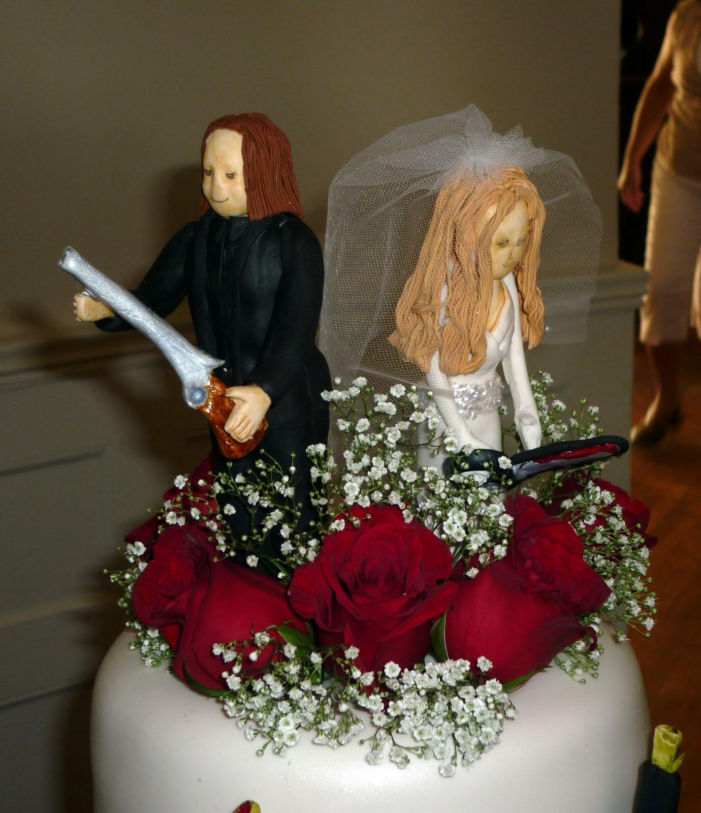 Zombie wedding cake zombie cake