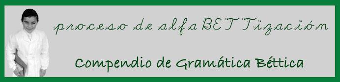 Proceso de alfaBETTización <p>Compendio de Gramática Béttica</p>