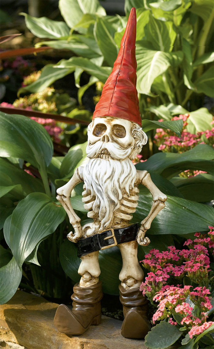 midnight in the garden of evil the skeleton gnome