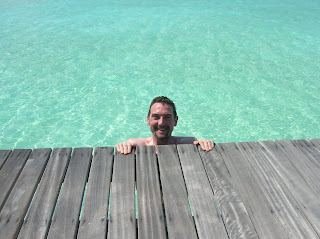 Jeff Archer swimming on vacation