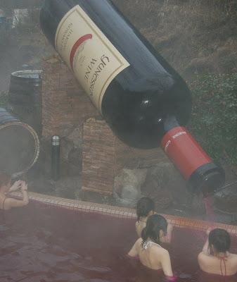 piscina de vinho