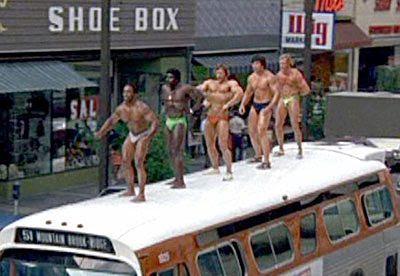 músculos no ônibus