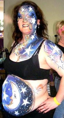 body art grávidas lua noite