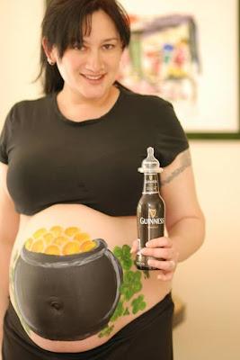 body art grávidas cerveja