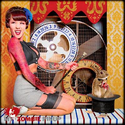 modelos zumbis pin-up calendário 2010 outubro