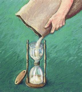 ampulheta administração sem tempo