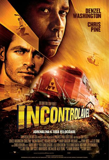 filme incontrolável poster cartaz chris pine denzel washington