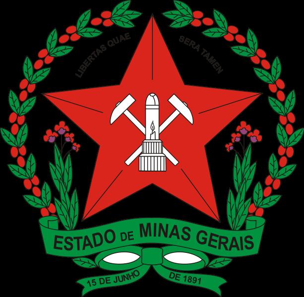 BRASÃO DO ESTADO DE MINAS GERAIS