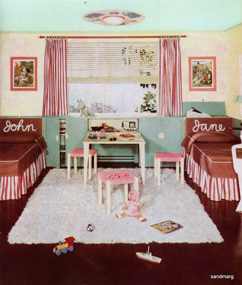 Sandmarg 1940 s john and jane bedroom for 1940s bedroom ideas