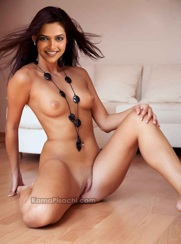 Deepika Padukone showing hot shaved pussy