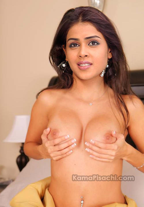 Genelia full nude pressing her nude breasts