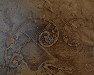 Αναγλυφα στενσιλ πανο σε επιχριζμα