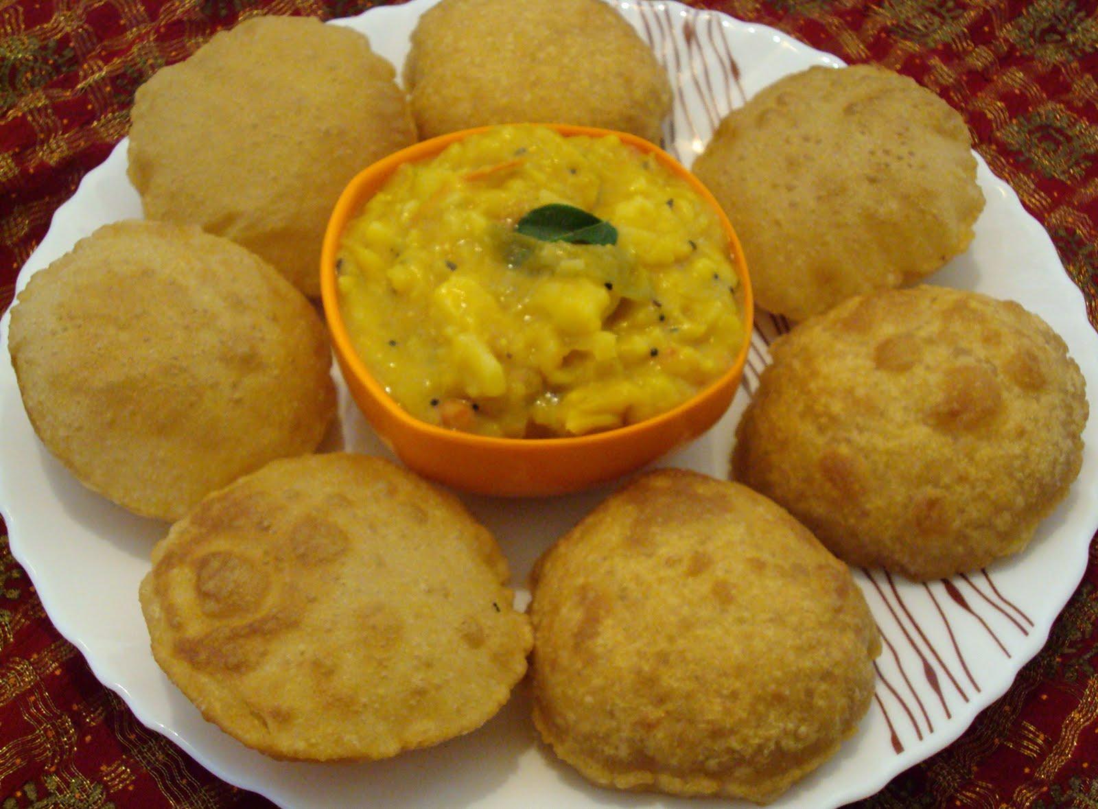 Poori Indian Food