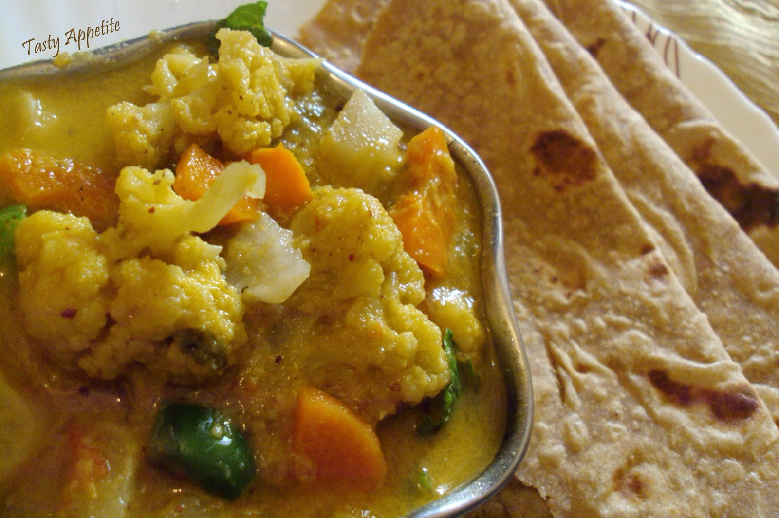 Vegetable Kurma For Chapathi Vegetable Korma / Rest...